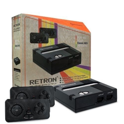Retron 1 NES System Top Loader BLACK + 2 Controllers Nintendo Console ��NEW ��