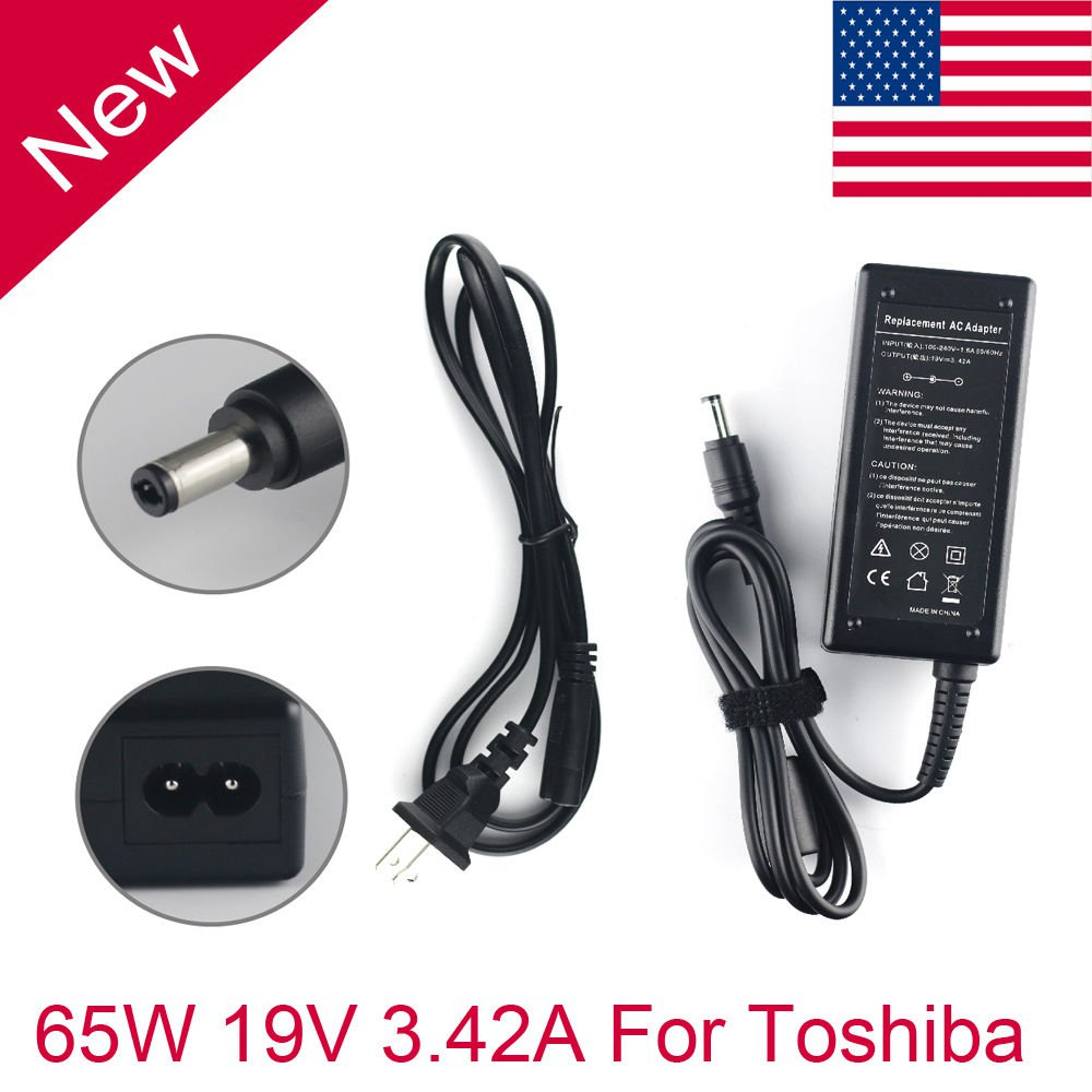 AC Adapter Charger 65W Toshiba Satellite PA3714U-1ACA LAPTOP Power Supply Cord