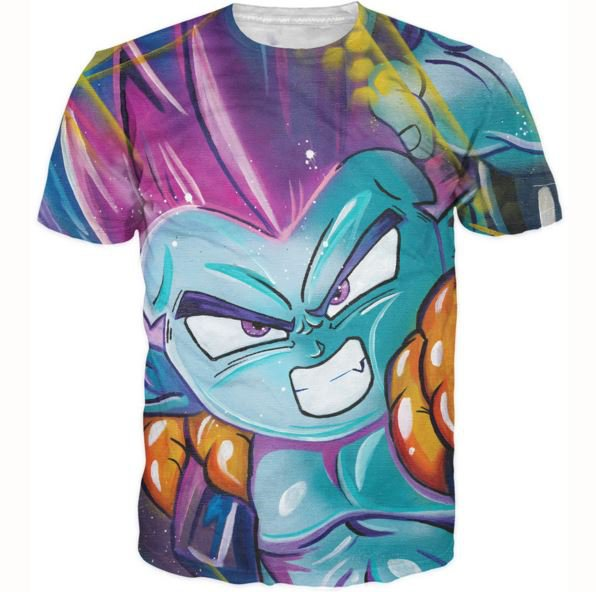 DBZ Fusion Dance Gotenks Goten Trunks 3D T-Shirt