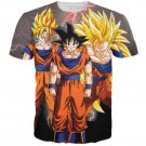 Goku Transformation Thunder Black Super Saiyan All Over T-Shirt
