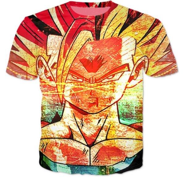 Super Saiyan 2 Gohan SSJ2 Graffiti Style T-Shirt