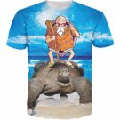 Master Roshi Turtle Shell Sky 3D Cool T-Shirt