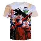 Cell Saga Goku Z-Fighters Warriors Characters 3D T-shirt