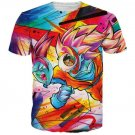 Tie Dye Graffiti Dragon Ball Goku SSJ3 3D T-Shirt