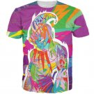 Super Buu Pink Menace Colorful Graffiti Style 3D T-Shirt