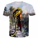 SSJ3 Goku Super Saiyan 3 River Mountain Graphic T-Shirt