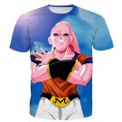 Majin Buu Wearing Goku Clothes Blue 3D Fashion T- Shirt