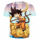 Kid Goku Flying Cloud 3D Artwear Gorgeous Blue Sky 3D T-Shirt