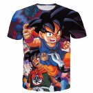 Bulma Yamcha Angry Kid Goku One of a Kind Dragonball 3D T-Shirt