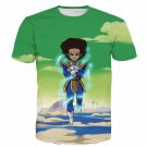 The Boondocks Huey Freeman Wearing Saiyan Armor Rap 3D T-Shirt