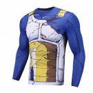 Vegeta Damaged Saiyan Armor Workout Long Sleeves Compression 3D Shirt