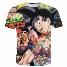 Japan Magazine Cover Style Dragonball Goku Yu-Gi-Oh Card 3D Shirt