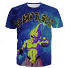 Marvelous Majin Buu Galaxy Space Dragon Ball Villain 3D T- Shirt