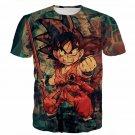 Kid Young Goku Vintage Tie Dye Painting Stylish DBZ 3D T- Shirt