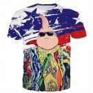 The Notorious B.I.G. Biggie Hip Hop DBZ Buu US Flag T- Shirt