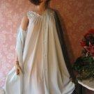 Vintage Shadowline nightgown peignior Set Petite SILKY