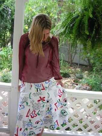 CUTEST Novelty Print Boho hippie OP ART vintage 70s Skirt