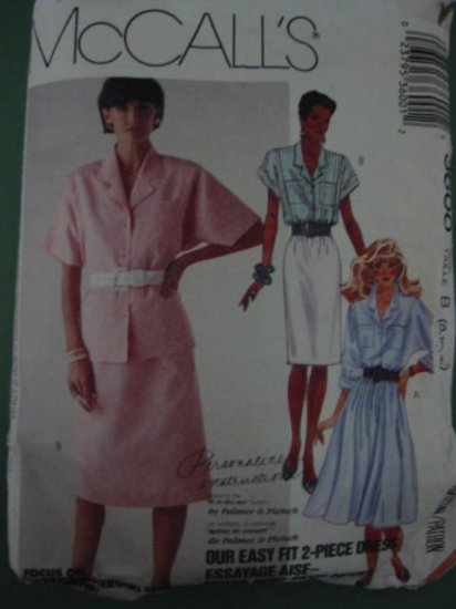 McCalls  dress  Skirt and Blouse easy fit Sewing Pattern 8 10 12