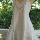 Bridal white Brocade Lace  Babydoll Teddie Chemise Top M
