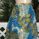 Luxe Silk Vintage 70s hawaiian Skort Mini Skirt Shorts Sarong S M