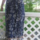 Border Print vintage 70s Maxi Sarong Wrap long Skirt medium m s