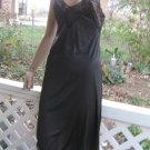 Unique Diamond shape Inset vintage black full dress SLIP XS S