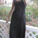 Unique Diamond shape Inset vintage black full dress SLIP XS S