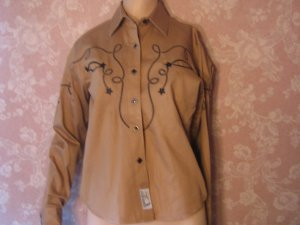 sold vintage Pearlsnap Embroidered Western Shirt  S M Cowgirl