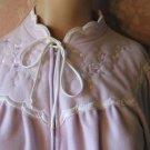 Miss Elaine Robe vintage long Plush Lilac  S Zip Front Lounger