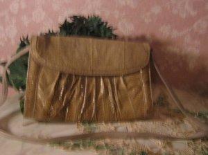 sold 70s J.Rene Snakeskin Vintage Clutch Purse Handbag
