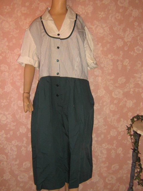 SOLD Crest Dress Costume Waitress Uniform 2X size 24 Teal Stripe Halloween