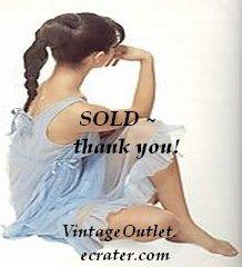 Vanity Fair Vintage Nightgown Peignoir Set Blue Swirl Print XS S