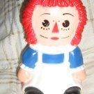 Vintage Raggedy Ann Bank Hard Plastic doll bank Coin Bank