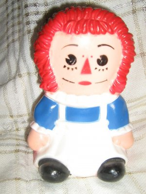 Vintage Raggedy Ann Bank Hard Plastic doll bank Coin Bank