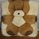 Teddy Bear applique plush Vintage Throw Pillow Teddy Bear Pillow