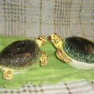 Turtle cream and sugar set vintage FF Sea Turtle Omnibus 1991 set two