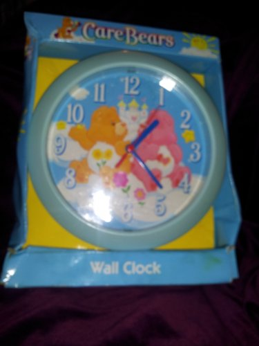 Vintage Care Bears Wall Clock NIB  Love A Lot Friend Bear Blue