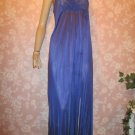 gilead Vintage Nightgown M long purple Nylon lace bodice picot trim