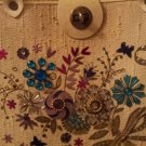 Vintage Purse Flower Jewels Sequin Bucket Handbag Collins style 60s