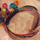 70s 80s Vintage Necklace Colorful Choker Fun Wood Beads Discs Hippie Festival