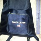 Ralph Lauren Polo Sport Small Backpack Tote Navy Logo White Embroidery purse