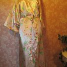 Satin vintage 90s Nightgown Peignoir Robe Pink floral Print Plus Size 3X 4X