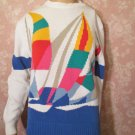 Pringle of Scotland Vintage Sweater Sailboat graphics Cotton Small med