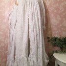 Miss Elaine Cotton Vintage Nightgown Peignoir Robe Set Roses S M Ruffles Lace