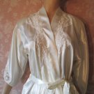 California Dynasty Vintage Satin Robe NWT Lace Sequin Faux pearl S M