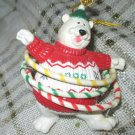 Enesco Vintage Christmas Ornament 1999 Hula Hoop Bear Limited Edition 90s NIB