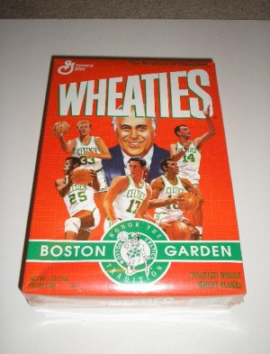 1995 Boston Celtic Wheaties Box   Free Ship !!!!