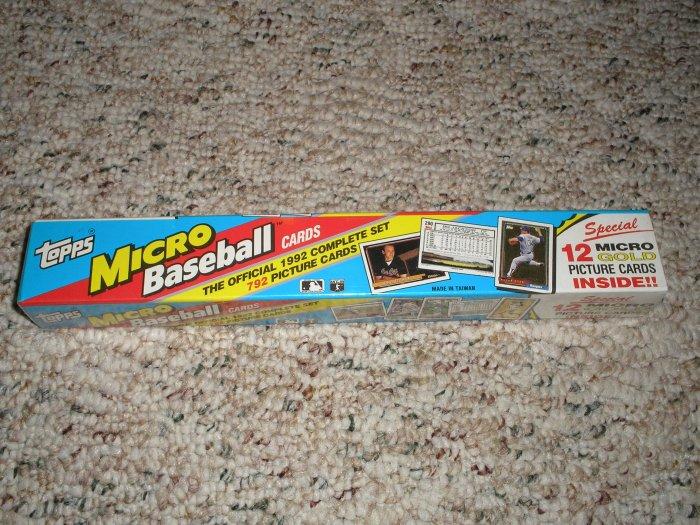 1992 Topps Micro Baseball Set