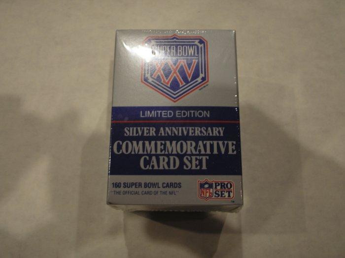 1990 Pro Set Super Bowl XXV Silver Anniversary Set
