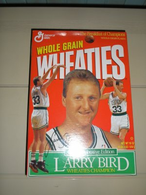 1993 Larry Bird Commemorative Wheaties Box. Free Shipping